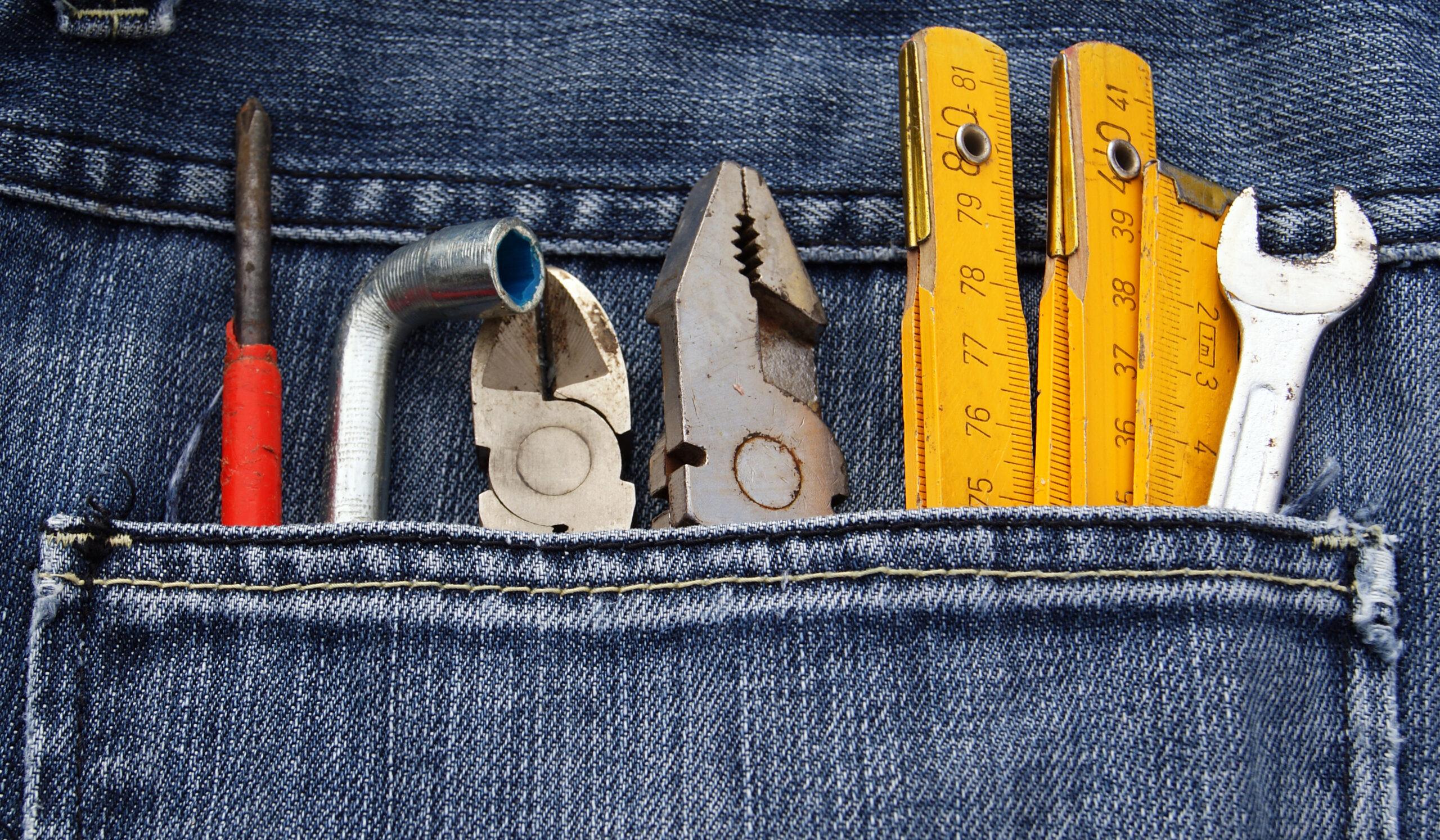 Tool,Jeans,Pocket